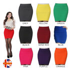 Womens Elastic A-Line Pleated Stretch Bodycon Style Pencil Office Mini Skirt