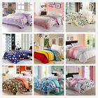 KING QUEEN DOUBLE SINGLE QUILT DUVET COVER No Pillowcases Floral Stripe Dot Camo