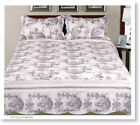 3 Pcs Floral Printed 100% Cotton Fill Quilt Set Bedding Bedspread coverlet PR08