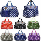 4pcs Mummy Baby Nappy Diaper Changing Maternity Bag Set Wipe Clean Polka Dots