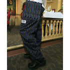 Chef Revival E-Z Fit Chef Pants Cotton, Periwinkle/Black Pinstripe