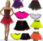 NEON TUTU  SKIRT 80'S FANCY DRESS 4 LAYERS PARTY