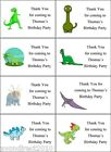 PERSONALISED DINOSAUR PARTY BAG LABELS, SWEET CONE STICKERS, GIFT TAGS
