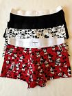 H&M DISNEY 3 Pack Cotton Stretch MICKEY MOUSE TRUNKS Sizes S, M, L, XL NEW
