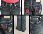 Rock & Roll Cowgirl Chevron & Rhinestone Girls Western Jean