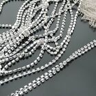 ss6-ss38 10yards Single-row Crystal Rhinestones Diamante Claw Cup Chain Trims