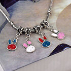 10/20/50/100 for Silver Charm Bracelets Lovely Cat Dangle Charm European Beads
