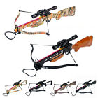 150 lb Black / Wood / Camo Hunting Crossbow Bow +4x20 Scope +12 Arrows 180 175