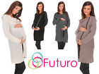 Womens Maternity Chunky Cardigan With Zip Long Sweatshirt Cape Sizes 8-14 MV151