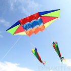 3D Radar Plane Power Kite Single Line with 2Pcs Tails Easy to Fly Boys Toys Fun