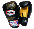 Twins Special Muay Thai K1 Boxing Gloves Dragon Black Gold 8oz - 16oz