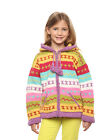 "Girl's Wool Cotton Blend Handknit Cardigan Sweater with Hood ""Lumi"" Hoodie"