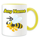 Personalised Gift Bee Mug Money Box Customise Name Message Wasp Bumble Cup Tea