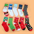 1 Pair Soft Hot Cute Winter Xmas Christmas Pattern Cotton Socks Stockings Unisex