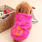 Hoodie Costume Dog Clothes Pet Jacket Coat Puppy Cat Costumes Apparel Winter New