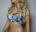 BLACK GREY WHITE CAMO BOOB TUBE CLUB STRETCH TOP BANDEAU CLUBWEAR PARTY DANCE H2