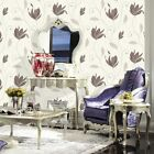 Synergy Floral Wallpaper- Chocolate Brown & Silver Glitter-Vymura-  Luxury M0780