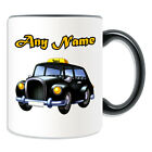 Personalised Gift Black Cab Mug Money Box London Taxi Hackney Carriage Hire Cup