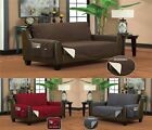 Reversible Furniture Pet Protector With Side Pockets Sofa Loveseat Chair