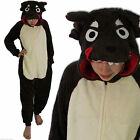 Boys Girls Kids Wolf Onesie Fleece Pyjamas Christmas Fancy Dress Age 2 3 4 6 7 8