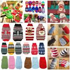 Dog Pet Warm Jumper Knit Sweater Clothes Puppy Cat Knitwear Costume Coat Apparel