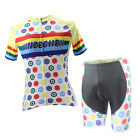 Women Short Cycling Clothing Suit Bicycle Cycling Jersey Short Set Colors Balls