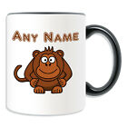 Personalised Gift Monkey Mug Money Box Cup Name Message Silly Gorilla Tea Coffee