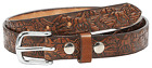 """BELT 1"""" AMISH HAND-CRAFTED EMBOSSED 10oz ENGLISH BRIDLE LEATHER 5 STYLES YOUTH"""