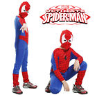 Boys Spiderman Superhero Outfit 3-8 Yrs Suit Party Kids Fancy Dress Costume NEW