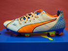 NEW PUMA evoPOWER 1.2 Pop FG Men's Soccer Cleats - White/Orange; 10346801