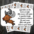 CHRISTMAS REINDEER FOOD POEM STICKERS LABELS x 42  #aaw