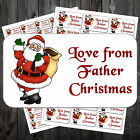21 Christmas Gift Sticky Labels/Stickers/Tags - Love From Father Christmas/ #acm