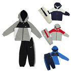Nike Boys Full Tracksuit Fleece Top Jogging Bottoms Joggers Hooded Hoodie BNWT