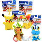 Pokemon XY Plush Doll keychain Clip On Pikachu Froakie Chespin Fennekin