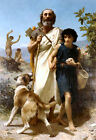 Homer and Guide (French Academic Greek myth art print)