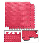 16–32 Sq Ft Interlocking EVA Mat 10mm Soft Foam Exercise Floor Gym Garage Office