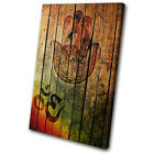 Vintage Hamsa Mandala Om Yoga Peace SINGLE CANVAS WALL ART Picture Print VA