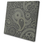 Abstract Paisley Floral Pattern SINGLE CANVAS WALL ART Picture Print VA