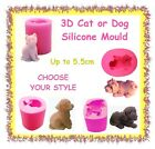 3D silicone cat or dog mould - CHOOSE YOUR STYLE - spaniel maltese soap clay