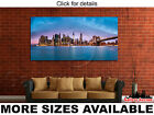 Wall Art Canvas Picture Print - New York Financial District Skyline Bridge 2.1