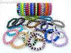10mm Czech Crystal Rhinestones Pave Clay Round Disco Beads Stretchy Bracelet