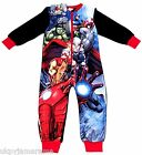 Boys Marvel Avengers Onesie Fleece Hulk Captain America Iron Man Pyjamas