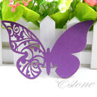 50/100 pcs Table Mark Wine Glass Butterfly Name Cards Place Wedding Party Favor