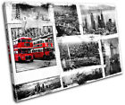 London Grunge City SINGLE CANVAS WALL ART Picture Print