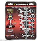 GearWrench 7 Pc. Stubby Combination Ratcheting Wrench Set SAE or METRIC