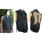 Walking Dead Daryl Dixon Cosplay Costume Leather Vest Jacket Halloween costume