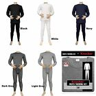 Mens 2PC Thermal Underwear Set Top Bottom Long John Waffle New Johns Pants S-3XL