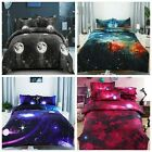 Galaxy Duvet Doona Quilt Cover Set Double Queen King Size Univers Bed Pillowcase