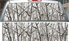 Snowstorm camouflage hunting rear window view thru graphic decal wrap