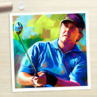 PHIL MICKELSON Golf PGA poster portrait painting CANVAS ART PRINT (Rolled)